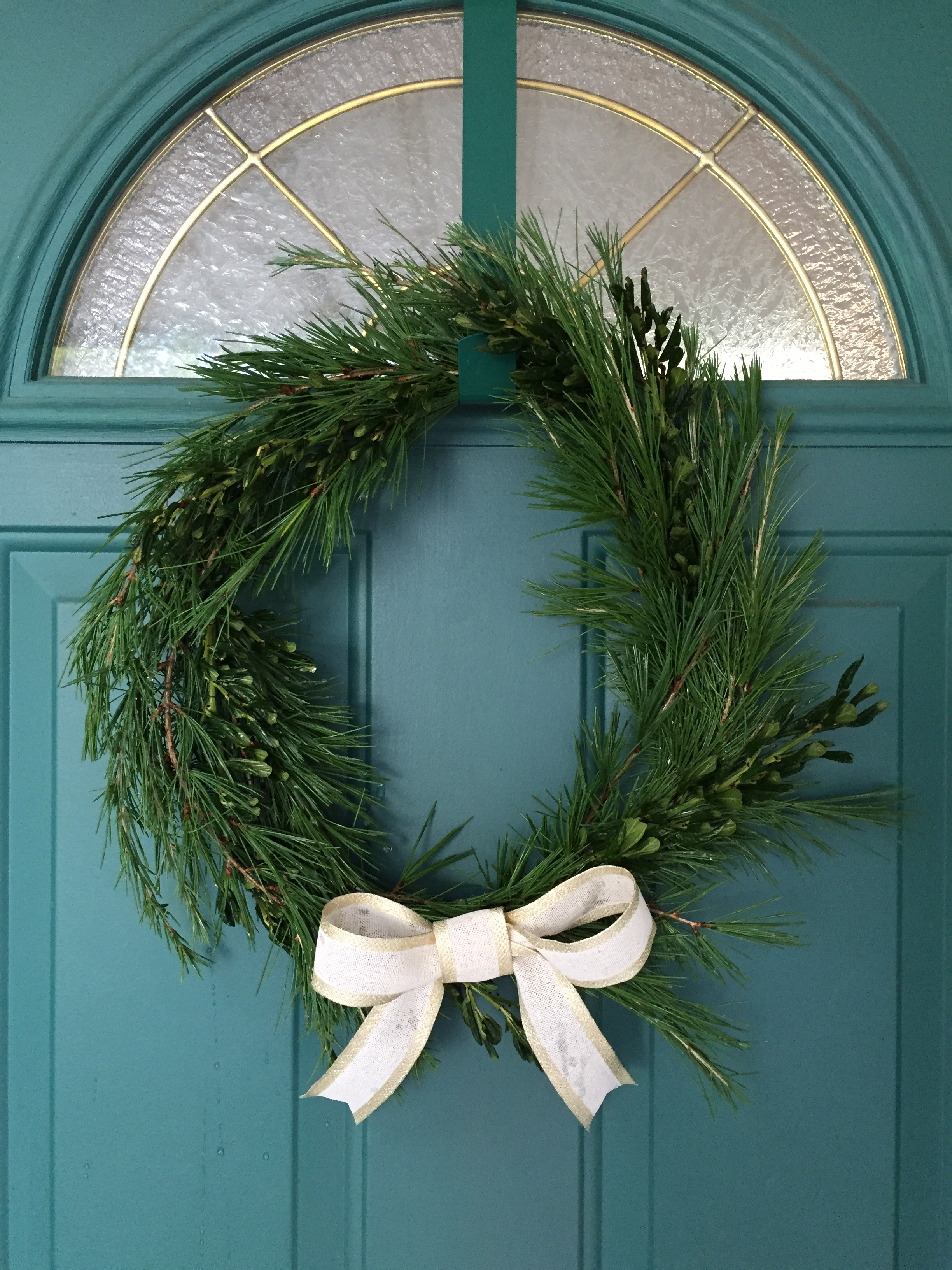 How to make a fresh wreath – for less than $5! – Luscious and Lively