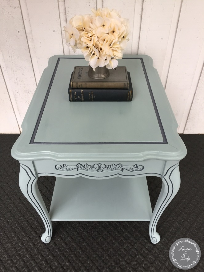 Finished side table painted with Country Chic Paint